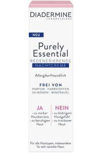 Ja zu einfach schöner Haut. Mit nur dem Essentiellen: Diadermine Purely Essential Nachtcreme